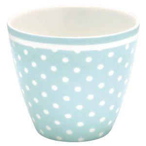 Mug Spot Pale Blue GreenGate - Disponible au magasin L'Îlot Lamp' à Granville et sur notre site L'Îlot Lamp'. Retrouvez toute la collection GreenGate ici !