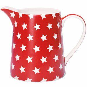 Pichet Star Red 0,5L GreenGate - Disponible au magasin L'Îlot Lamp' à Granville et sur notre site L'Îlot Lamp'. Retrouvez toute la collection GreenGate ici !