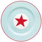 Assiette D20,5 Star Pale Blue GreenGate - Disponible au magasin L'Îlot Lamp' à Granville et sur notre site L'Îlot Lamp'. Retrouvez toute la collection GreenGate ici !