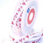 Ruban Guirlande de Coeurs - Disponible au magasin L'Îlot Lamp' à Granville et sur notre site L'Îlot Lamp'. Retrouvez toute la collection de rubans ici !