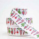 Ruban Guirlande de Noël Tissé - Disponible au magasin L'Îlot Lamp' à Granville et sur notre site L'Îlot Lamp'. Retrouvez toute la collection de rubans ici !