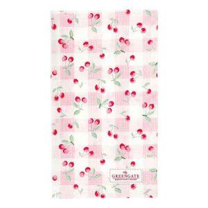 Torchon Cherry Pale Pink GreenGate - Disponible au magasin L'Îlot Lamp' à Granville et sur notre site L'Îlot Lamp'. Retrouvez toute la collection GreenGate ici !