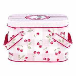 Boîte Pique-nique Cherry GreenGate - Disponible au magasin L'Îlot Lamp' à Granville et sur notre site L'Îlot Lamp'. Retrouvez toute la collection GreenGate ici !