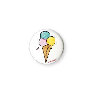 Badge Cornet de Glace Krima & Isa - Disponible au magasin L'Îlot Lamp' à Granville et sur notre site L'Îlot Lamp'. Retrouvez toute la collection Krima & Isa ici !