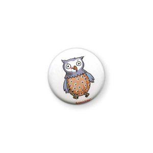 Badge Hibou Krima & Isa - Disponible au magasin L'Îlot Lamp' à Granville et sur notre site L'Îlot Lamp'. Retrouvez toute la collection Krima & Isa ici !