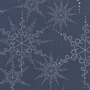 Toile Enduite Snow Flake Midnight Blue AU Maison - Disponible au magasin L'Îlot Lamp' à Granville et sur notre site. Retrouvez la collection AU Maison !