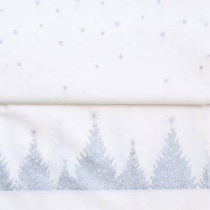 Toile Enduite Christmas Silver White AU Maison - Disponible au magasin L'Îlot Lamp' à Granville et sur notre site. Retrouvez la collection AU Maison !
