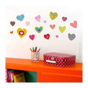 Sticker Coeurs - Série Golo - Disponible au magasin L'Îlot Lamp' à Granville et sur notre site. Retrouvez toute la collection Série Golo !