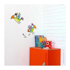 Sticker Perroquets - Série Golo - Disponible au magasin L'Îlot Lamp' à Granville et sur notre site. Retrouvez toute la collection Série Golo !