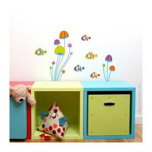 Sticker Minis Poissons - Série Golo - Disponible au magasin L'Îlot Lamp' à Granville et sur notre site. Retrouvez toute la collection Série Golo !