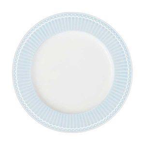 Assiette D26,5 Alice Pale Blue GreenGate -Disponible au magasin L'Îlot Lamp' à Granville et sur notre site L'Îlot Lamp'. Retrouvez la collection GreenGate !