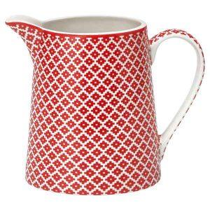 Pichet Judy Red Greengate - Disponible au magasin L'Îlot Lamp' à Granville et sur notre site L'Îlot Lamp'. Retrouvez la collection GreenGate !