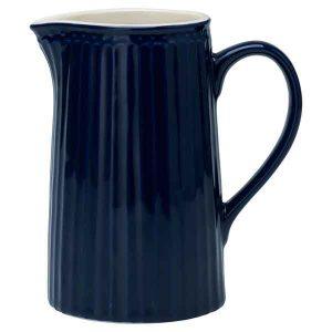 Pichet Alice Dark Blue Greengate - Disponible au magasin L'Îlot Lamp' à Granville et sur notre site L'Îlot Lamp'. Retrouvez la collection GreenGate !