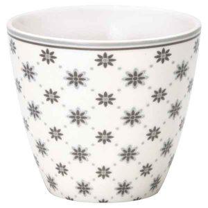 Mug Laurie White Greengate - Disponible au magasin L'Îlot Lamp' à Granville et sur notre site L'Îlot Lamp'. Retrouvez la collection GreenGate !