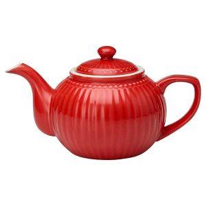 Théière Alice Red GreenGate - Disponible au magasin L'Îlot Lamp' à Granville et sur notre site L'Îlot Lamp'. Retrouvez toute la collection GreenGate!