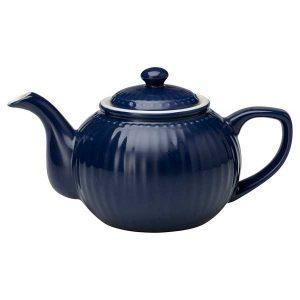 Théière Alice Dark Blue GreenGate - Disponible au magasin L'Îlot Lamp' à Granville et sur notre site L'Îlot Lamp'. Retrouvez toute la collection GreenGate!