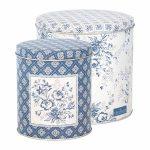 Boîtes Sadie Blue GreenGate - Disponible au magasin L'Îlot Lamp' à Granville et sur notre site L'Îlot Lamp'. Retrouvez toute la collection GreenGate ici !