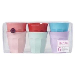 6 Mugs Mélamine Extraordinary Colors Rice - Disponible au magasin L'Îlot Lamp' à Granville et sur notre site L'Îlot Lamp'. Retrouvez la collection Rice !