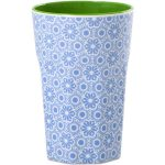 Grand Mug Mélamine Two Tone Blue Flower Rice - Disponible au magasin L'Îlot Lamp' à Granville et sur notre site L'Îlot Lamp'. Retrouvez la collection Rice !