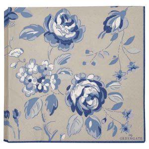 20 Serviettes en Papier Amanda Dark Blue Greengate Disponible au magasin L'Îlot Lamp' à Granville et sur notre site L'Îlot Lamp'. Retrouvez la collection !
