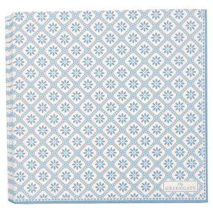 20 Serviettes en Papier Bianca Dusty Blue Greengate Disponible au magasin L'Îlot Lamp' à Granville et sur notre site L'Îlot Lamp'. Retrouvez la collection !