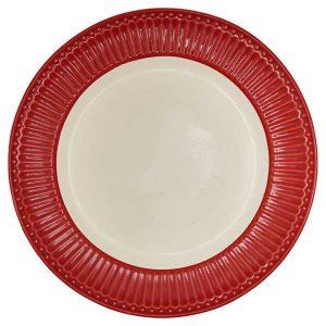 Assiette D26,5 Alice Red GreenGate -Disponible au magasin L'Îlot Lamp' à Granville et sur notre site L'Îlot Lamp'. Retrouvez la collection GreenGate !