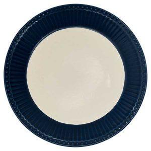 Assiette D23,5 Alice Dark Blue GreenGate -Disponible au magasin L'Îlot Lamp' à Granville et sur notre site L'Îlot Lamp'. Retrouvez la collection GreenGate !