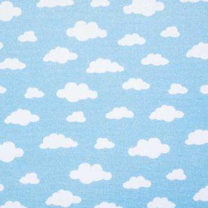 Tissu Clouds Blue - Disponible au magasin L'Îlot Lamp' à Granville et sur notre site L'Îlot Lamp'. Retrouvez la collection de tissus ici!