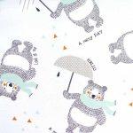 Tissu Raining Bears - Disponible au magasin L'Îlot Lamp' à Granville et sur notre site L'Îlot Lamp'. Retrouvez la collection de tissus ici!
