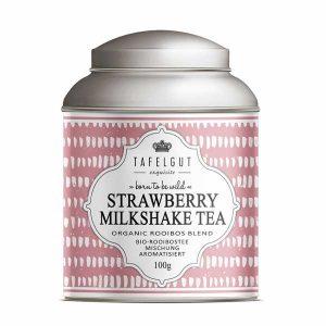 Strawberry Milkshake Tea - Rooibos Tea Bio - Tafelgut - Disponible au magasin L'Îlot Lamp' à Granville et sur notre site. Retrouvez la collection TAFELGUT!