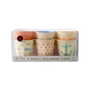 6 Petits Gobelets Mélamine with Kids Ocean Life Print Rice - Disponible au magasin L'Îlot Lamp' à Granville et sur notre site L'Îlot Lamp'.Retrouvez la collection Rice