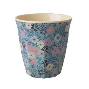 Gobelet Mélamine with Small Flower Print Two Tone Rice - Disponible au magasin L'Îlot Lamp' à Granville et sur notre site L'Îlot Lamp'.Retrouvez la collection Rice