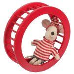 Roue Mouse Wheel Circus Red - Maileg - Disponible au magasin L'Îlot Lamp' à Granville et sur notre site. Retrouvez la collection MAILEG !