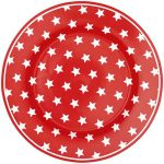 Assiette Star Red D20,5 GreenGate - Disponible au magasin L'Îlot Lamp' à Granville et sur notre site L'Îlot Lamp'. Retrouvez toute la collection GreenGate ici !