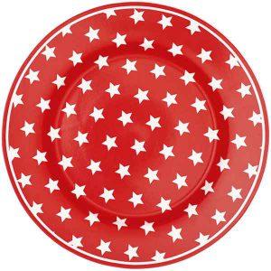Assiette Star Red D20,5 GreenGate - Disponible au magasin L'Îlot Lamp' à Granville et sur notre site L'Îlot Lamp'. Retrouvez toute la collection GreenGate ici !