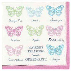 Serviettes en Papier Papillon GreenGate - Disponible au magasin L'Îlot Lamp' à Granville et sur notre site L'Îlot Lamp'. Retrouvez toute la collection GreenGate ici !