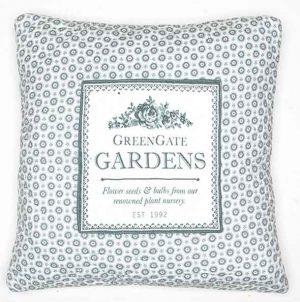 Housse de Coussin Quilté Garden Grey GreenGate - Disponible au magasin L'Îlot Lamp' à Granville et sur notre site L'Îlot Lamp'. Retrouvez toute la collection GreenGate ici !