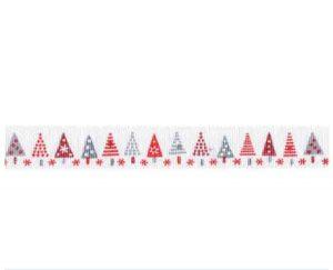 Ruban Sapins de Noël - Disponible au magasin L'Îlot Lamp' à Granville et sur notre site L'Îlot Lamp'. Retrouvez toute la collection de rubans ici !