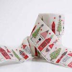 Ruban Ville de Noël Tissé - Disponible au magasin L'Îlot Lamp' à Granville et sur notre site L'Îlot Lamp'. Retrouvez toute la collection de rubans ici !