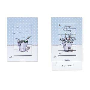 Carte Postale Happy Birthday Krima & Isa - Disponible au magasin L'Îlot Lamp' à Granville et sur notre site L'Îlot Lamp'. Retrouvez toute la collection Krima & Isa ici !