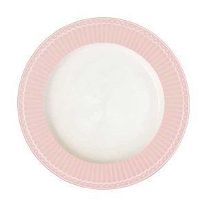 Assiette D26,5 Alice Pale Pink GreenGate -Disponible au magasin L'Îlot Lamp' à Granville et sur notre site L'Îlot Lamp'. Retrouvez la collection GreenGate !
