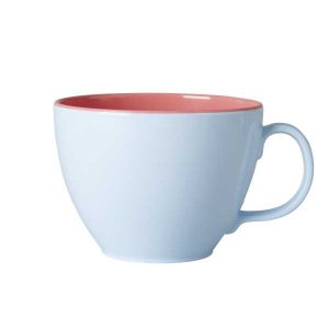 Tasse Mélamine Two Tone Jumbo Blue Coral Rice - Disponible au magasin L'Îlot Lamp' à Granville et sur notre site L'Îlot Lamp'. Retrouvez la collection Rice !
