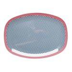 Assiette Sailor Stripe Print Rice - Disponible au magasin L'Îlot Lamp' à Granville et sur notre site L'Îlot Lamp'. Retrouvez la collection Rice !