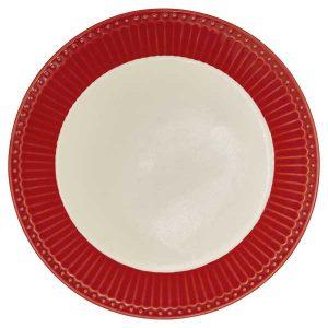 Assiette D23,5 Alice Red GreenGate -Disponible au magasin L'Îlot Lamp' à Granville et sur notre site L'Îlot Lamp'. Retrouvez la collection GreenGate !