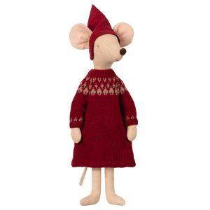 Christmas Mouse Maxi Girl - Maileg - Disponible au magasin L'Îlot Lamp' à Granville et sur notre site. Retrouvez la collection MAILEG !