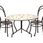 Dinning Table With 2 chairs Mini