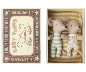 Baby Mice Twins in Box Rayures - Maileg -