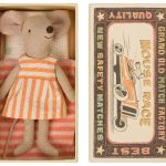 Mouse Big Sister Orange in box - Maileg