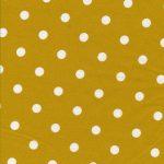 Toile Cirée Dots Big Mustard AU Maison