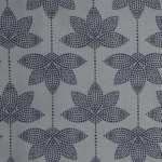 Toile Cirée Lotus Dusty Blue Midnight AU Maison
